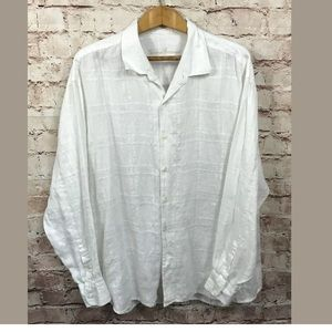 Tommy Bahama White Shirt XXL Linen Long Sleeve